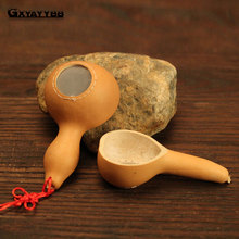 GXYAYYBB 1Pcs/Set Pure natural gourd Tea Strainer Tea Infuser Pipe Design Touch Feel Good Holder Tool Tea Spoon Infuser Filter(China)