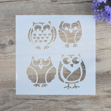 DIY Craft Layering Owl Stencils For Walls Painting Scrapbooking Stamping  Album Decorative Embossing Paper Cards