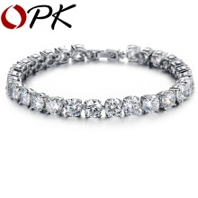 OPK AAA Cubic Zirconia Tennis Bracelet Elegant Style Gift for Wedding/ Engagement/ Birthday, 928(China)