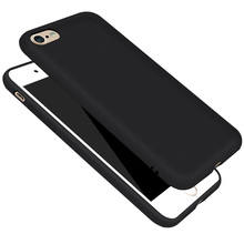 Black Matte Rubber Durable Phone Cases for iPhone 6 6s Plus 5 5s SE Shockproof Silicone Back Cover for iPhone 7 7Plus 6 6s Coque