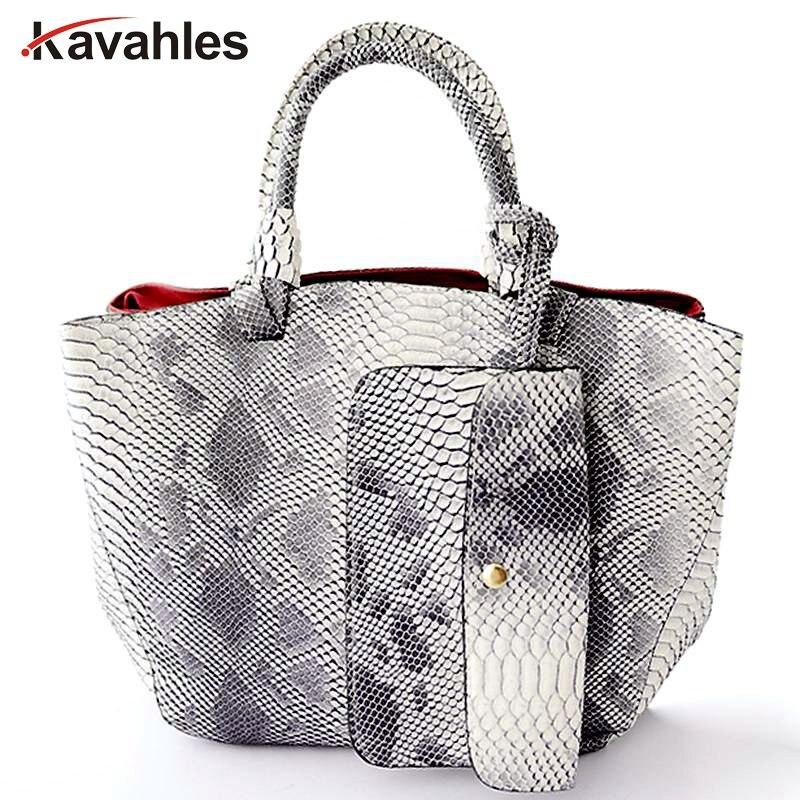 2017 leather bags crocodile snake skin women handbag fashion designer brand high quality shoulder bags ladies tote bag  A40-235<br>