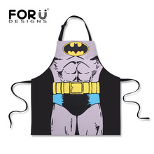 FORUDESIGNS Funny Star Wars Black/ White Aprons Batman Cartoon Mens Bibs Darth Vader Apron Super Hero/Hulk Fartuch Kuchenny Men(China)
