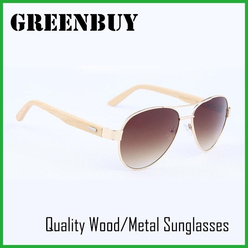GREENBUY Aviator Sunglasses Women Brand Bamboo Sunglasses Gradient Brown 100% UV400 Glasses Multi Color Gold Frame Eyeglasses<br><br>Aliexpress