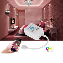 Bluetooth 4.0 Wireless RGB Remote Controller for RGB LED Strip Light Smartphone for IOS/ Android APP Control with Music/Timing(China)