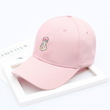 Men Women Embroidery Baseball Cap Heart Fingers Baseball Cap Sports Events Team Hat Girls Sun Hat(China)