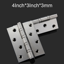 "Top Quality 8PCS/lot 4""X3""X3mm Stainless Steel Casting Extra-thick Smooth&Quiet Ball Bearing Door Hinges,Stainless Steel Brushed"