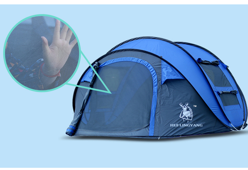 HYL camping pop up tent large 3-4 person windproof (10)
