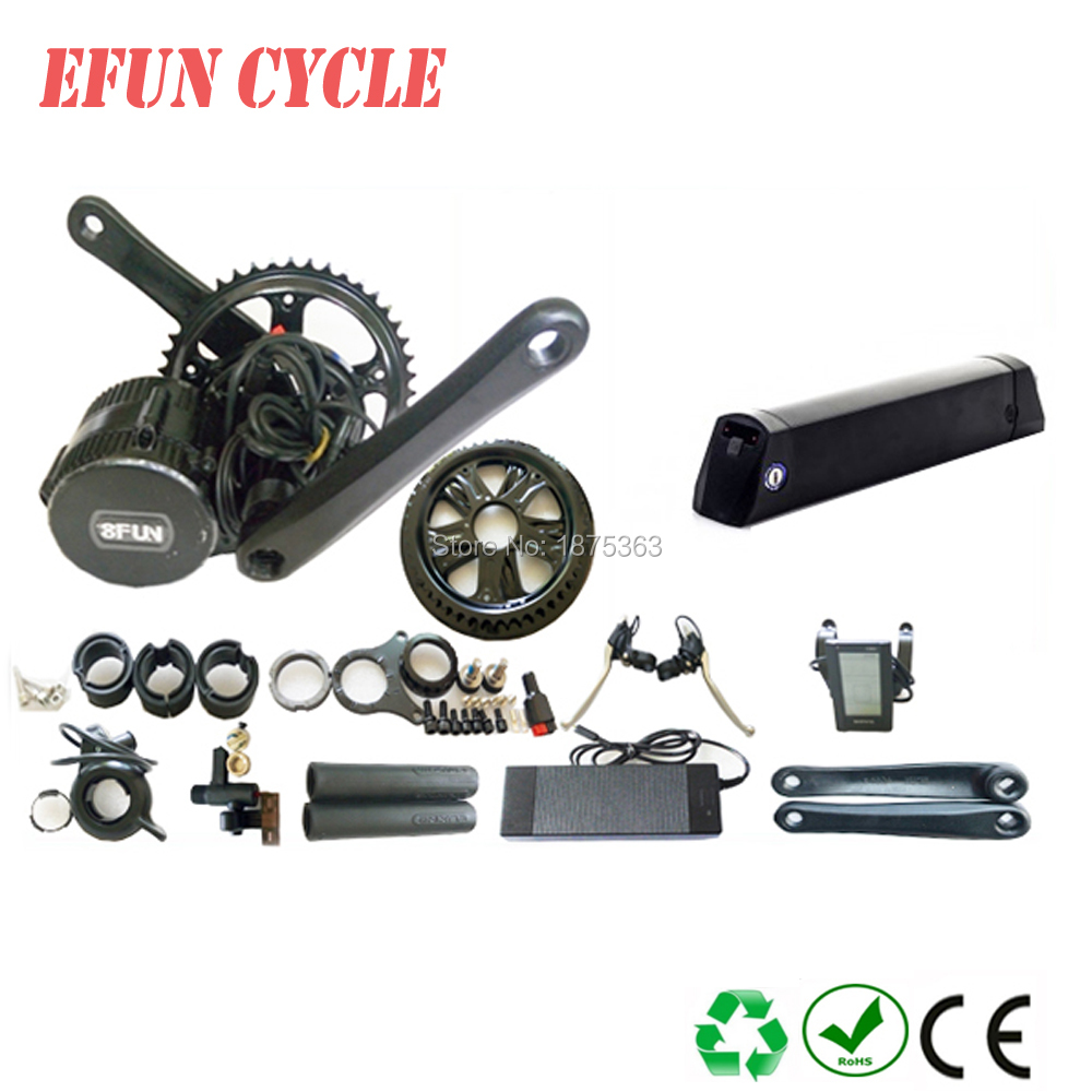 Free Bafang new version BBS02B 36V 500W mid drive motor kits 36V 12.8Ah LT tube battery fat tire bike