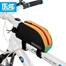 New Arrival 1L Roswheel Outdoor Mountain Bicycle Cycling Frame Front Top PVC Tube Bag MTB Bike Pouch 12654 Red/Blue/Black/Yellow(China)