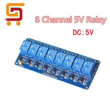 Optocoupler 8 channel 5v relay module shield board for Arduino Control Panel PIC AVR MCU DSP ARM(China)
