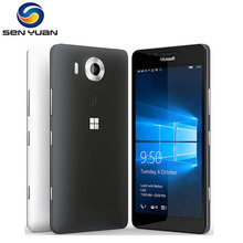 Original Microsoft Lumia 950 unlocked cell phone 20MP Camera NFC Quad-core 32GB ROM 3GB RAM  LTE FDD  WIFI GPS 4G phone