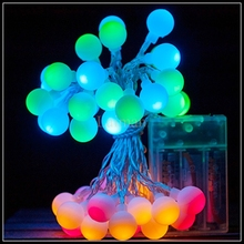 10M 80 LED Fairy string Lights Battery Operated small ball LED string lights for Wedding Xmas Party Outdoor Indoor decoration