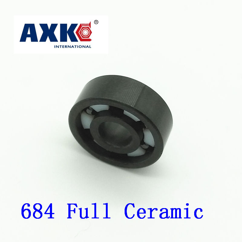AXK 684 Full Ceramic Bearing ( 1 PC ) 4*9*2.5 mm Si3N4 Material 684CE All Silicon Nitride Ceramic 618/4 Ball Bearings<br>