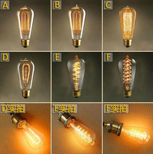 ST64 Vintage Squirrel 40W E27 Incandescent Edison Light Bulb clear glass Marconi Style tungsten filament Christmas Edison lamp