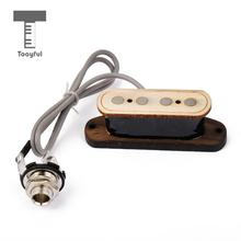 Tooyful High Quality Single Coil Sized 4 String Bass Pickup Cigar Rosewood Box Guitar Accessories Music Stringed Replacement