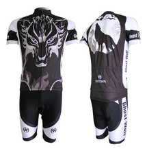 2017 Cool Wolf Pattern Black Specialized Pro Team Riding Clothing Set Summer Mens Breathable Bicycle Wear Cycling Jersey