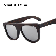 MERRY'S DESIGN Men Wooden Polarized Sunglasses HAND MADE 100% UV Protection S'5085