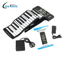 88 Key Electronic Piano Keyboard Silicon Flexible Roll Up Piano with Loud Speaker Wish US Plug(China)