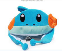 Free Shipping EMS 100/Lot New Costume Cosplay Mudkip Plush Hat Cap Good For Gift