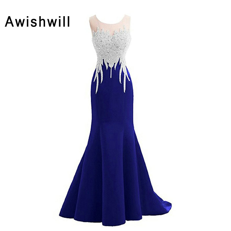 Vestido Longo de Festa Para Casamento Real Photo Sleeveless Beadings Satin Women Dress Formal Mermaid Evening Dresses Long