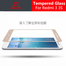 hacrin Xiaomi Redmi 3 Tempered Glass Color Full Cover Screen Protector Film Guard For Xiaomi Redmi 3S 3X Mobile Phone(China)