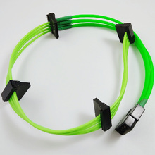Molex 4PIN to Sata connector adapter extension cable with multi color sleeving