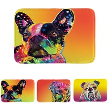 Cute Bull Terrier Series Door Mats Pet Dog French Bulldog Floor Mats Soft Lightness Indoor Outdoor Bathroom Mats Drop Shipping