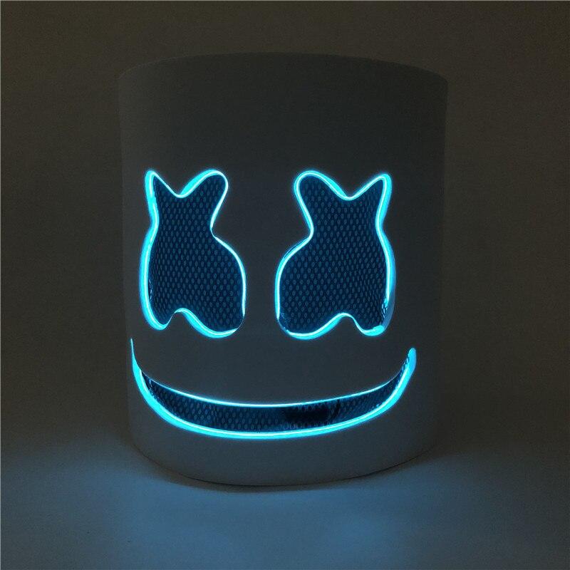 Casque PVC Marshmello DJ Mask Concert Props Future Bars de musique basse