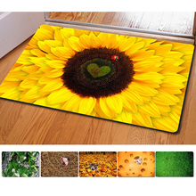 Fashion Bedroom Floor Mats Slip-resistant Entrance Doormate Pad Sunflower Cute Cat Print Horse Kitchen Carpet for Living Room35