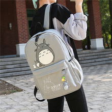 Drop shipping Totoro Backpack 3D printing travel softback women mochila School space backpack notebook girls backpacks 2017 new(China)