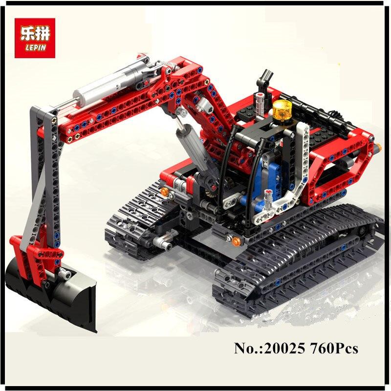 IN STOCK Lepin 20025 760Pcs Genuine Technic Series The Red Excavator Set Children Building Blocks Bricks Boys Educational Toys<br>