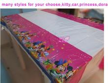 Free shipping,Birthday celebrate party kit,princess,hello kitty,balloons,dora ,spiderman,PE table cover table cloth,108cm*180cm
