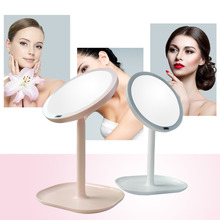 7X 30PCs Magnifying Makeup Rechargeable Motion Sensor LED Light Mirror USB 360 Rotation Vanity Mirror Infrared Induction(China)