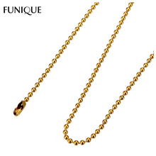 FUNIQUE Stainless Steel Ball Chain Necklace Jewelry Women Men Gold Punk Rock Jewelry Accessories Gifts