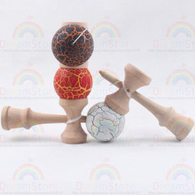 Professional jumbo kendamas for sale diameter 3.8CM wood sword ball Toy Juggling Ball For Children Adult Mini size(China)