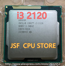 Intel Core I3 2120 3M Cache 3.3 GHz LGA 1155 TDP 65W desktop CPU scattered piece processor Free Shipping i3-2120(China)