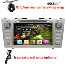 "1024*600 2 Din Quad Core 8"" Android 6.0 Car DVD GPS Navigation For Toyota Camry 2007 2008 2009 2010 Head Unit Car Stereo radio(China)"