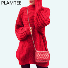 PLAMTEE Women Maternity Sweaters Casual Thick Knit Sweater For Pregnant 2017 Turtleneck Stripe Pullover Pregnancy Clothes Winter(China)