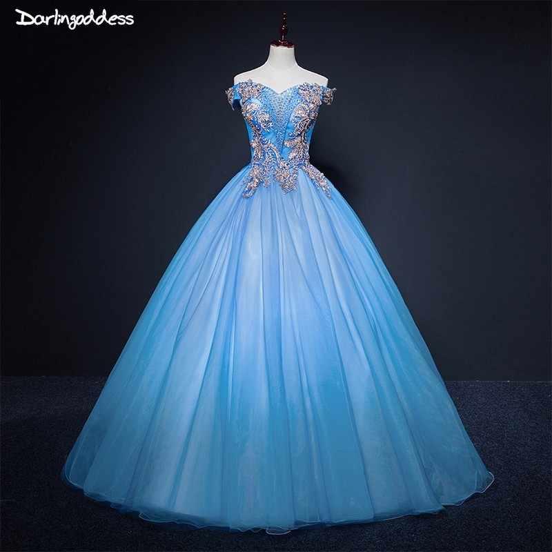 Light Blue Quinceanera Dresses Ball Gown Sweet 16 Debutante Party Dress  Cheap Quinceanera Dresses 2018 vestido e06a1b9fad48