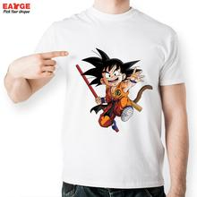 [EATGE] Child Son Goku With Bar In Hand T Shirt Cartoon Character T-shirt Dragon Ball Z  Cool Printed Unisex Tee