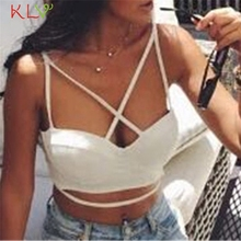 KLV Coolbeener  Sexy Women Bustier Bralette Corset Tops Cut Out Bra Crop Strappy Tank Top mar7