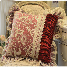 New Velvet luxury Sofa Cushion Cover Round  Lace Tassel Around Bed Home Car Chair Model Room Ornament Wholesale