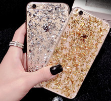 Crystal Clear Sequins Glitter Bling Phone Cases for Apple iPhone 5s 5 se 6 6s Plus 7 7plus 8 8plus X Back Cover Soft Case A52(United States)
