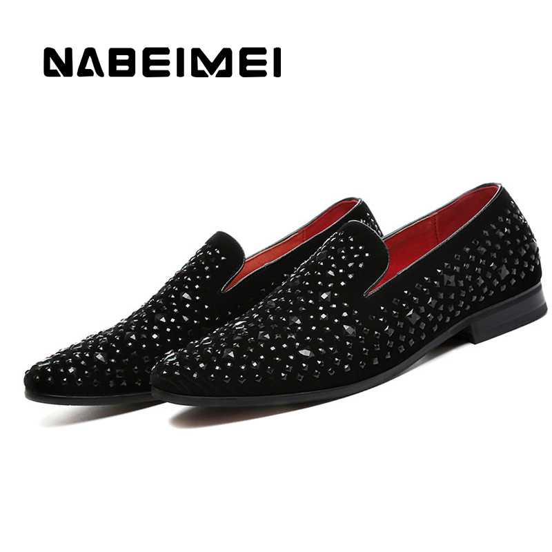 Loafers black shoes rubber slip on mens shoes casual crystal waterproof superstar breathable bling zapatos hombre 2017 new<br>