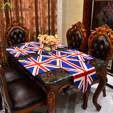 HAKOONA The Union Jack  The Who MOD style Table Runner  Placemats Pads  Dyed Polyester Jacquard  Kitchen Restaurant Decoration