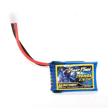 Giant Power 3.7V 1S 200mAh 25C Fast Charger High Performmance Li-Po Battery for HISKY FBL80 RC Helicopter