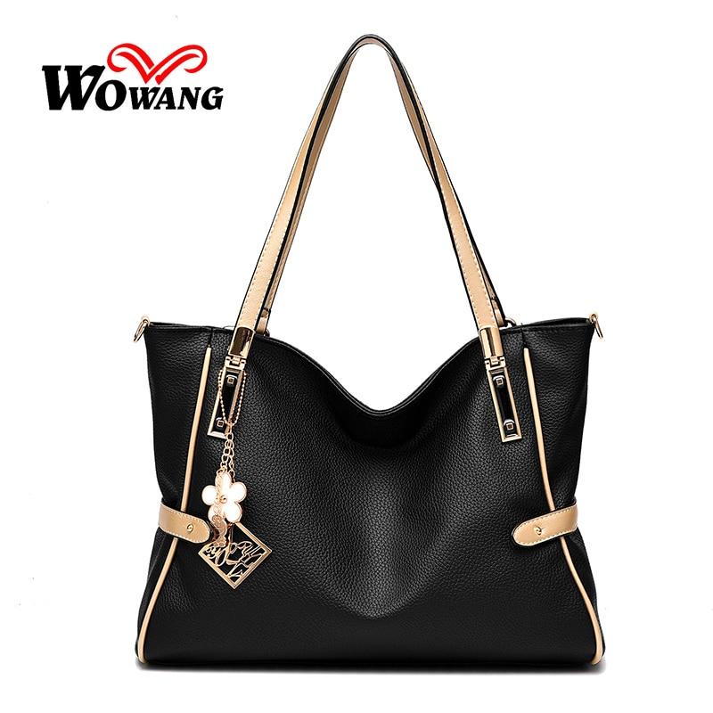 2016 Autumn New Women Leather Handbags Big Shoulder Bag Large Capacity Women Messenger Bag Crossbody Bag Clutch Tote Sac A Main<br><br>Aliexpress