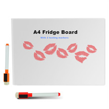 A4 Dry Erase Flexible Magnetic Whiteboard/Message board/Memo Pad/Dialog Box Magnet/Magnetic white board with 2 dry erase markers(China)
