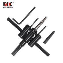 Buy MX-DEMEL 1set Drill Bits DIY Screw Extractor Drill Bits Handy Adjustable Metal Circle Hole Saw Drill Bit Cutter Kit Tools for $7.99 in AliExpress store