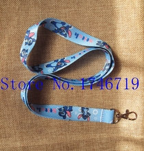 Retail 1 pcs Popular Cartoon Stitch Straps Lanyard  ID Badge Holders Mobile Neck Key chains For Party Gift PO-94